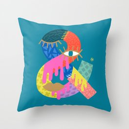Another Ampersand Again Throw Pillow