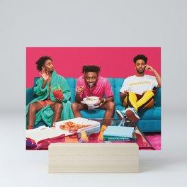 Amine couch Mini Art Print