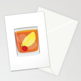 Old Fashioned Cocktail Stationery Cards