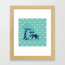 Curiosity Killed the Cat Framed Art Print