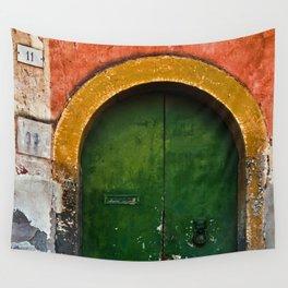 Magic Green Door in Sicily Wall Tapestry
