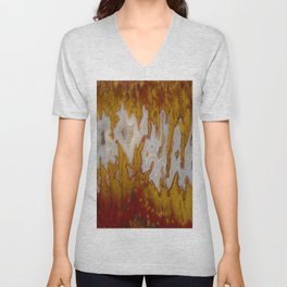 Cady Mountain Yellow Flame Agate Unisex V-Neck