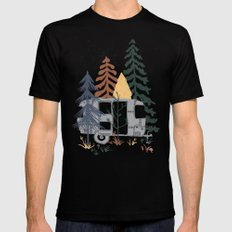 Wild Airstream... Mens Fitted Tee LARGE Black