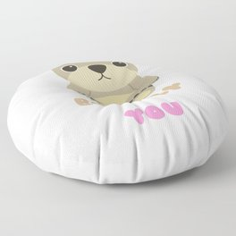 Bear ly Functioning Without You Cute Bear Pun Floor Pillow