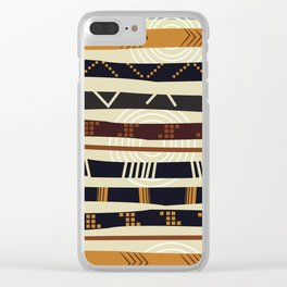 African Tribal Pattern No. 35 Clear iPhone Case