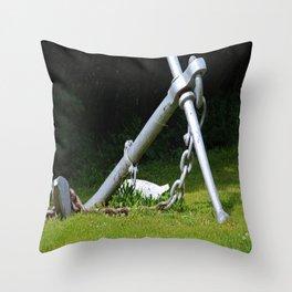 Anchors Aweigh II Throw Pillow