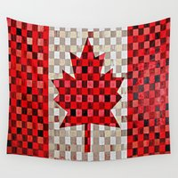 canada Wall Tapestries featuring Canada Flag by Patti Friday