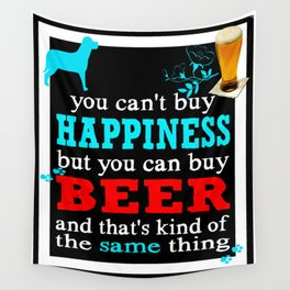 BEER AND HAPPINESS Wall Tapestry