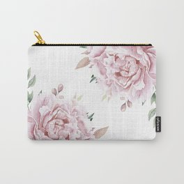 Pink Roses Duet Carry-All Pouch