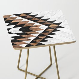 Urban Tribal Pattern No.9 - Aztec - Concrete and Wood Side Table