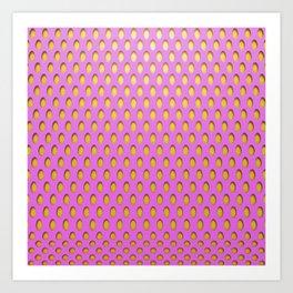 Elongated Holes3 Spanked Pink Art Print
