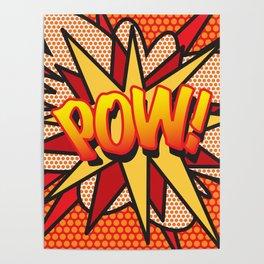 Comic Book POW! Poster