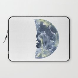 First Quarter Moon Watercolor Laptop Sleeve