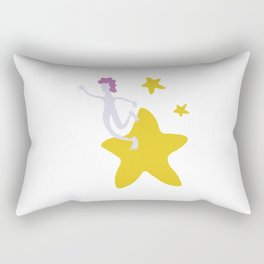 Reach for the Stars - Yellow Rectangular Pillow