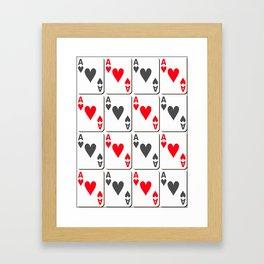 The gambler IV Framed Art Print