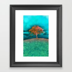 ABSTRACT - solitary tree Framed Art Print