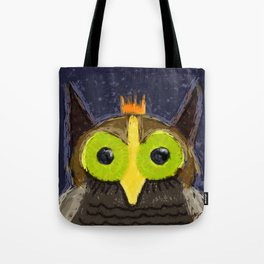 The Kingly Owl - Digital Painting Tote Bag