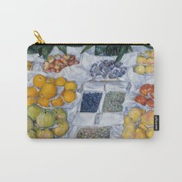 Gustave Caillebotte - Fruit Displayed on a Stand Carry-All Pouch