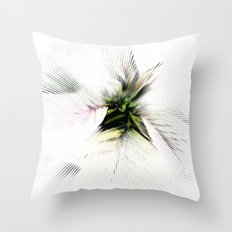 Poinsettia White on White Throw Pillow