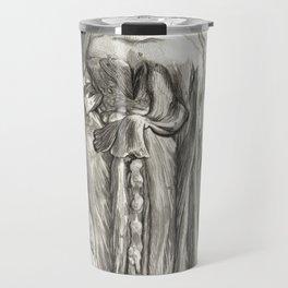Human Anatomy Art Print MUSCLE CERVICAL BONES Vintage Anatomy, doctor medical art, Antique Book Plat Travel Mug