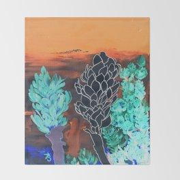DESERT NIGHT Alpinia Purpurata Throw Blanket