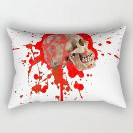 WHITE RED EXPLODING BLOODY SKULL HALLOWEEN  ART Rectangular Pillow