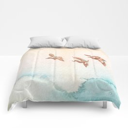 Blue-Winged Teals Comforters