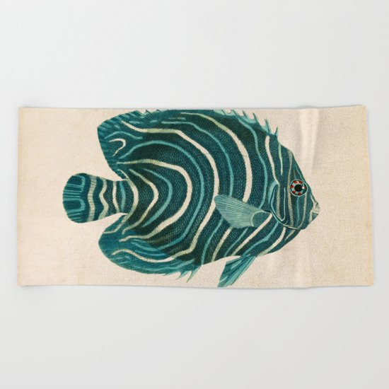 Green Fish Beach Towel