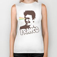 james franco Biker Tanks featuring Magic Franco by One Giant Eye