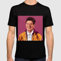 Hipstory - Ronald Reagan Mens Fitted Tee MEDIUM Black