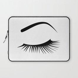 Closed Eyelashes Left Eye Laptop Sleeve
