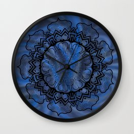 Water Swirl Mandala Wall Clock