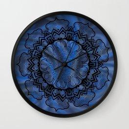 Water Swirl Mandala Wall Clock