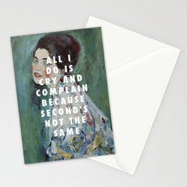 Gustav Klimt, Porträt einer Dame (1916-1917) / Halsey, Is There Somewhere (2014) Stationery Cards