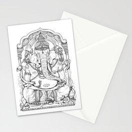 Ganesha Lineart Stationery Cards