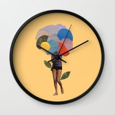 i dream of you amid the flowers Wall Clock