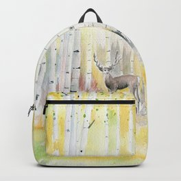 Birch Forest In The Morning Backpack