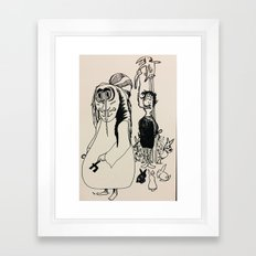 Wrong place wrong time. Framed Art Print