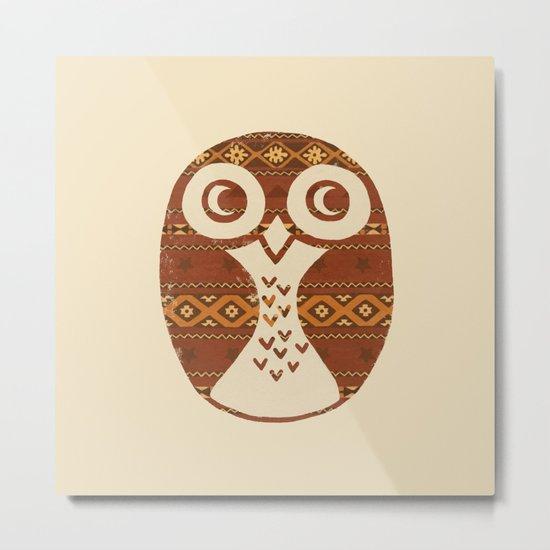 Navajo Owl  Metal Print