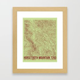 Horsetooth Topography USGS Colors Framed Art Print