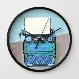 Writer's Muse -Typewriter Wall Clock