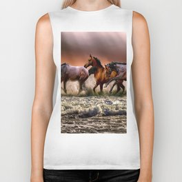 Animal Horses Fauna Biker Tank