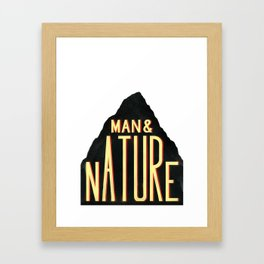 Man & Nature Framed Art Print