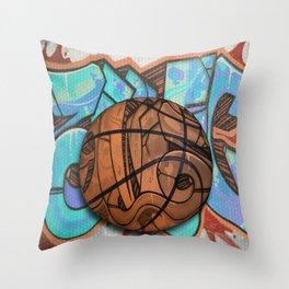 Basketball Graffiti Team Sports Design Throw Pillow