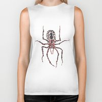 spider Biker Tanks featuring Spider by coconuttowers