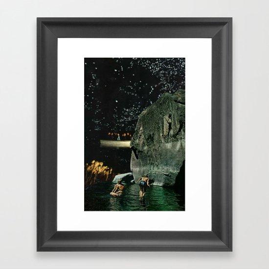 Moon Lagoon Framed Art Print