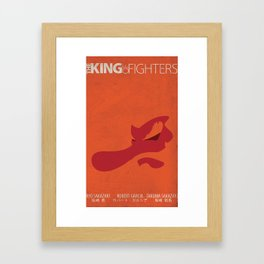 Art of Fighting Minimal (The King of Fighters XII teams series) Framed Art Print