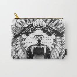 Lions + Patterns Carry-All Pouch