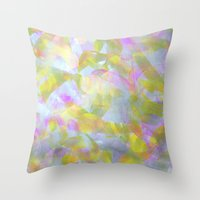 Abstract in Shimmery Pastel Colors Throw Pillow