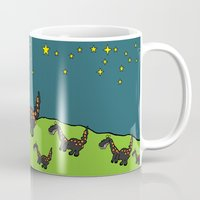 dino Mugs featuring Dino by albedesign